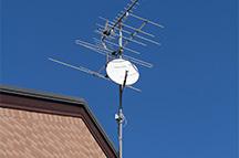 テレビアンテナ(BS、地デジの設置)